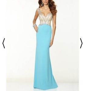NWT Paparazzi Ice Blue Beaded Evening Gown